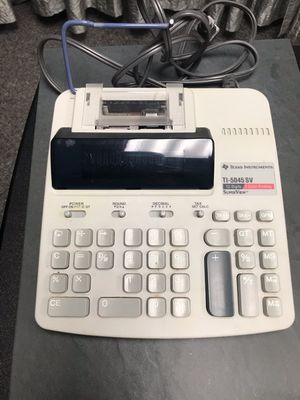 2 (two) Texas Instrument TI-5045 SV Vintage Business Calculators for Sale in Sudbury, MA