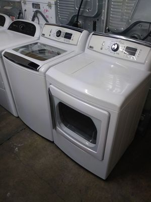 🏭GE washer large capacity dryer electric steam nice set🏭 for Sale in Houston, TX