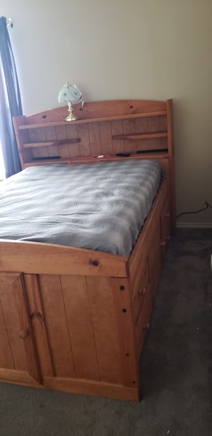 Full size bed w/storage for Sale in Saginaw, TX