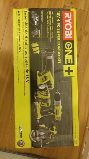 Ryobi 4 tool combo pack for Sale in Chillum, MD