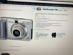 Canon PowerShot A10 digital camera with 3x optical zoom for Sale in Winchester, VA