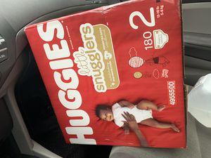 Size 2 huggies for Sale in Lauderhill, FL