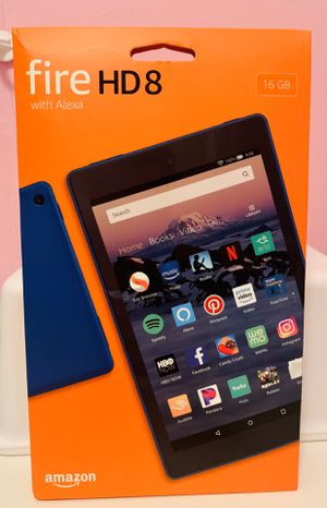 Amazon Fire HD8 16GB Tablet with Alexa Marine Blue for Sale in Houston, TX