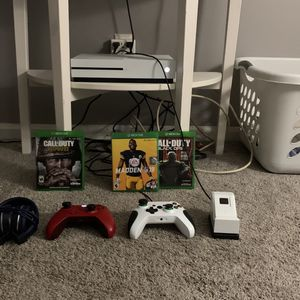 Xbox One S 1TB comes with: 2 controllers (1 wireless & 1 wired), a charging station, a headset, & 3 games for Sale in Centreville, VA
