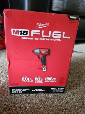 """Milwaukee M18 Fuel 3/8"""" Impact Wrench W/ Friction Ring New for Sale in Saint Paul, MN"""