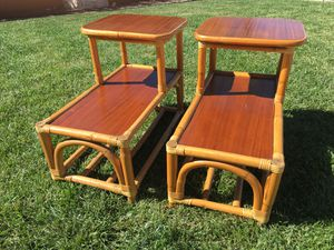 Antique Bamboo End Tables $50 for Sale in La Habra Heights, CA