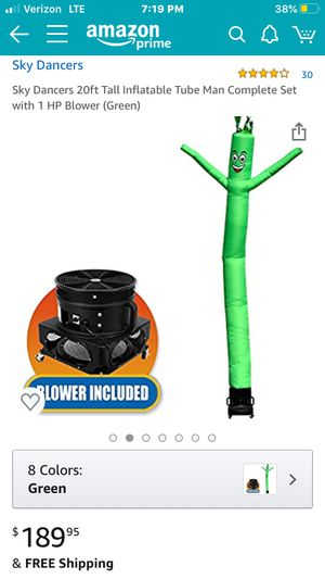 Sky Dancers 4.0 out of 5 stars 30 Reviews Sky Dancers 20ft Tall Inflatable Tube Man Complete Set with 1 HP Blower (Green) for Sale in Brecksville, OH