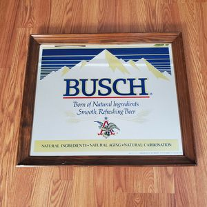 Vintage Busch Beer Hanging Mirror for Sale in New London, CT