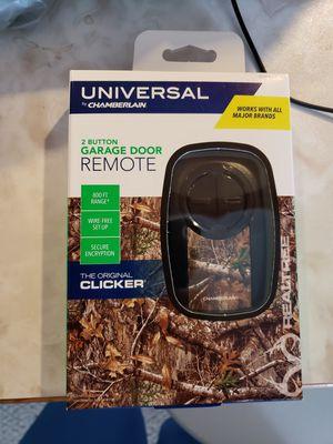 Universal 2 button garage door remote for Sale in Wichita, KS