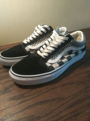 Vans shoes black and white checkers old school size 8 m for Sale in San Diego, CA