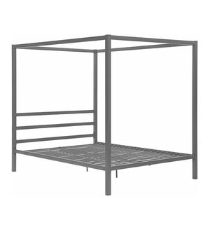 Modern Canopy Bed Frame, Classic Design, Queen Size, Grey for Sale in Stone Ridge, VA