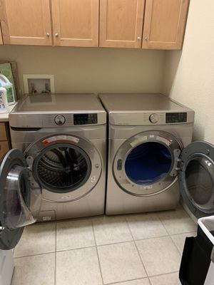 Samsung electric washer and dryer high efficiency set for Sale in Greenwood Village, CO