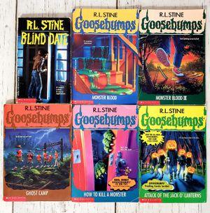 Goosebumps RL Stine Lot of 6 Paperback Books Blind Date, #3, #29, #45, #46, #48 for Sale in Harrisonburg, VA