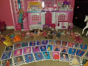 Huge barbie lot (some vintage dolls, clothes and trading cards) for Sale in Mount Hope, KS