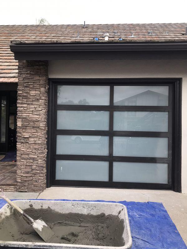 Full view glass garage doors