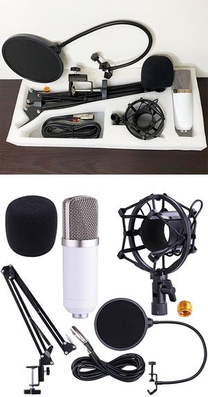 New in box $35 Condenser Microphone Kit Studio Recording w/ Filter Boom Arm Stand Shock Mount for Sale in Whittier, CA