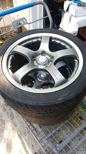 "4 17"" x7.5 inch rev racing wheels 5x4 1/2(5x114.3) for Sale in Greensboro, NC"