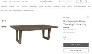 Brio Rectangular Dining Table , Grigio Warm Gray (8 Bonus Chairs Included) for Sale in Lakewood, CO