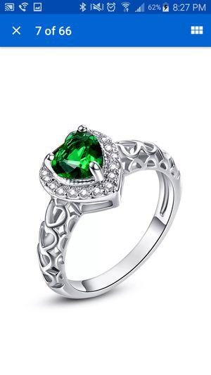 18k white gold filled ring size 6 for Sale in Carteret, NJ