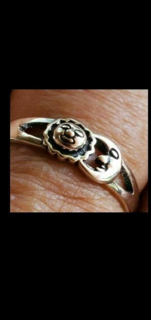 .925 sterling silver sun and moon ring,size 10 GUARANTEED STERLING for Sale in Round Rock, TX