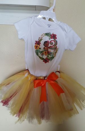 Moana Baby Dress 2nd bday for Sale in Valrico, FL