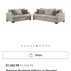 Couch, Love Seat, Coffee Table, End Tables, Lamps, And Rug for Sale in Morgan Hill, CA