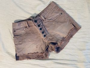 Free people fringe shorts with buttons details . for Sale in Hollywood, FL