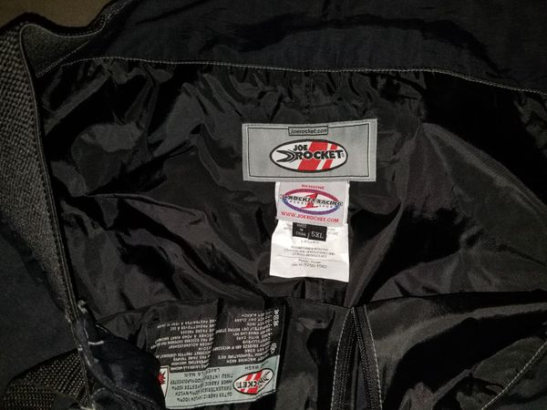 Joe Rocket Ballistic tear-away sportbike rider pants,armoured knee area,padded buttocks,front pockets
