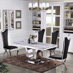 Marble Dining Table Set for Sale in Riverside, CA