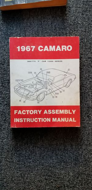 Camaro factory assembly manual 1967 for Sale in Huntington Beach, CA