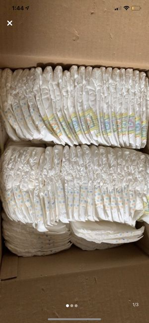 Entire Box of Newborn Diapers and Bag of 15+ Size One for Sale in Burrillville, RI