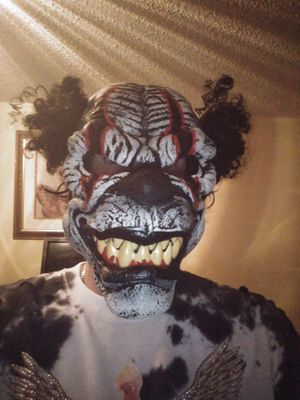 Evil killer klown with with teeth and foam type skin scary selling $25 for Sale in Miami, FL