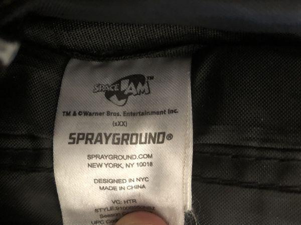 Space Jam Sprayground Backpack laptop bag