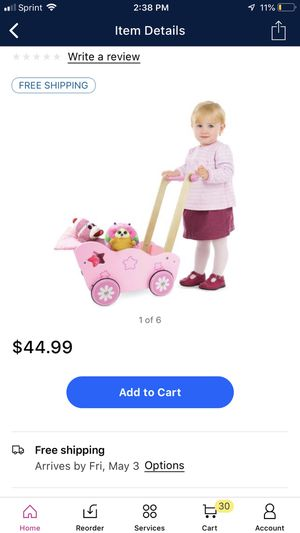 Wood stroller toy for girls for Sale in NJ, US