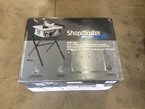Shop master delta 10inch portable table saw for Sale in Norwalk, CA