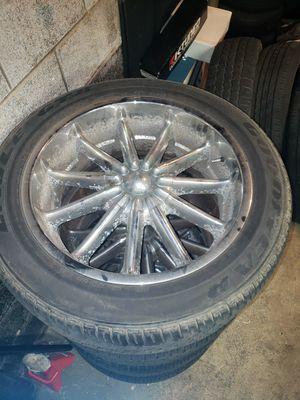 20' Mazzi Chrome Wheels w/GoodYear Tires for Sale in Bethlehem, PA