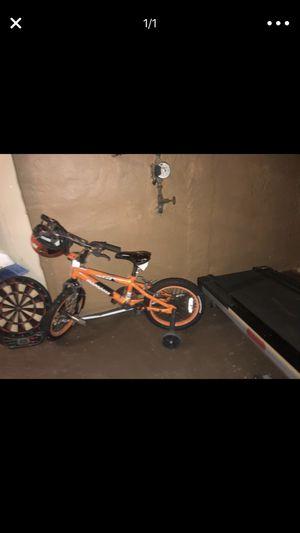 Nice kids bike just like new..W helmet for Sale in Ferguson, MO