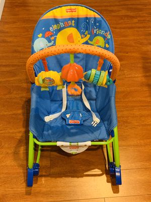 Fisher Price Infant to Toddler Rocking Chair with music and vibrator for Sale in Fremont, CA