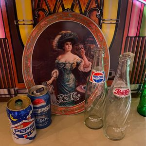 Pepsi serving tray and vintage bottles for Sale in Boring, OR