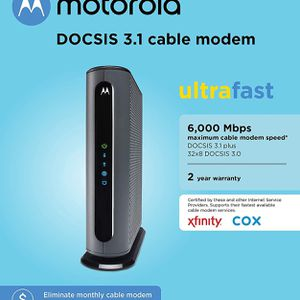 Motorola Mb8600 Cable Modem and Router for Sale in Tracy, CA