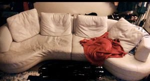 Natuzzi Genuine White Leather Couch for Sale in Oakland, CA