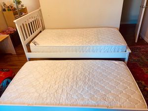 Trundle twin Bed with mattress for Sale in Concord, CA