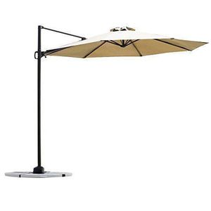 C-Hopetree 10' Offset Cantilever Umbrella for Outdoor Deck, Garden, Patio, Pool Area(PU07BEIGE) for Sale in Miami, FL