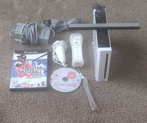 Nintendo Wii (RVL-001; GC Compatible) Console w\Mario Party8 +All Star Baseball GameCube for Sale in Richmond, VA