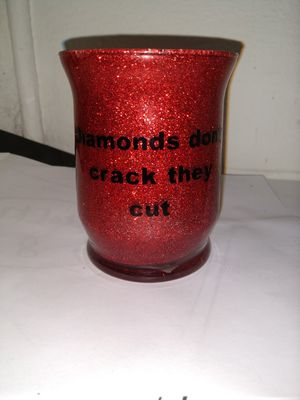 Red glitter makeup brush holder for Sale in Lake Wales, FL
