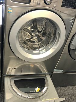 New LG Front Load Washer with Sidekick Washer Pedestal for Sale in Arlington,  TX