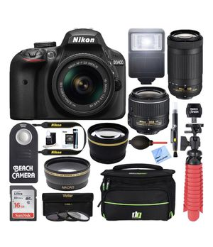 Nikon D3400 24.2MP DSLR Camera & Accesories for Sale in Lehigh Acres, FL