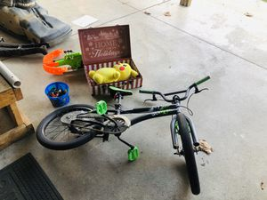 Bicycle, nerf gun, decorative box with stuffed Pikachu for Sale in Arcadia, CA