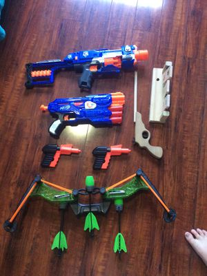 Nerf guns and targets various for Sale in Vacaville, CA