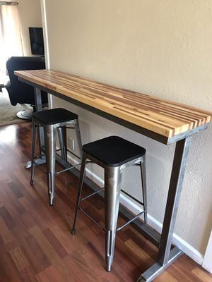 Handcrafted Bar Table with Stools for Sale in San Jose, CA